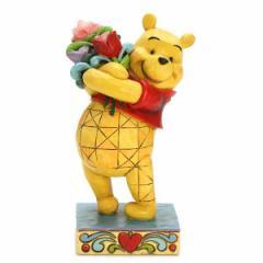 エネスコ フィギュア オブジェ 置物/enesco POOH WITH FLOWERS クマのプーさん フィギュア オブジェ 置物