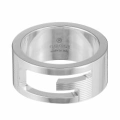 グッチ レディース&メンズ リング 指輪11号/GUCCI ロゴ リング 指輪 シルバー