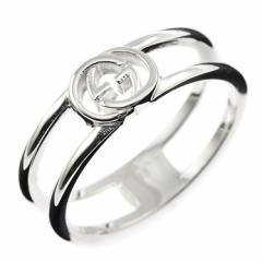 グッチ レディース&メンズ リング 指輪10号/GUCCI ロゴ リング 指輪 シルバー