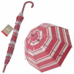 [即日発送]ハンターブーツ レディース&メンズ 長傘/HUNTER WAU2045PPE-PNK ボーダー柄 長傘 ピンク/クリア  バレンタインデー