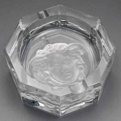 ヴェルサーチ 灰皿/Versace MEDUSA CRYSTAL ASCHER 灰皿 クリア