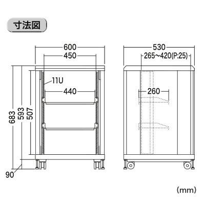 ラック 寸法 インチ 19 サーバーラックは「EIA規格」と「JIS規格」の違いを理解して選ぶ