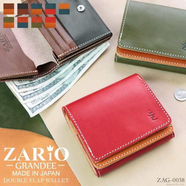 514347b60125 折り財布 メンズ レディース 二つ折り財布 短財布 栃木レザー 本革 日本製 ZARIO