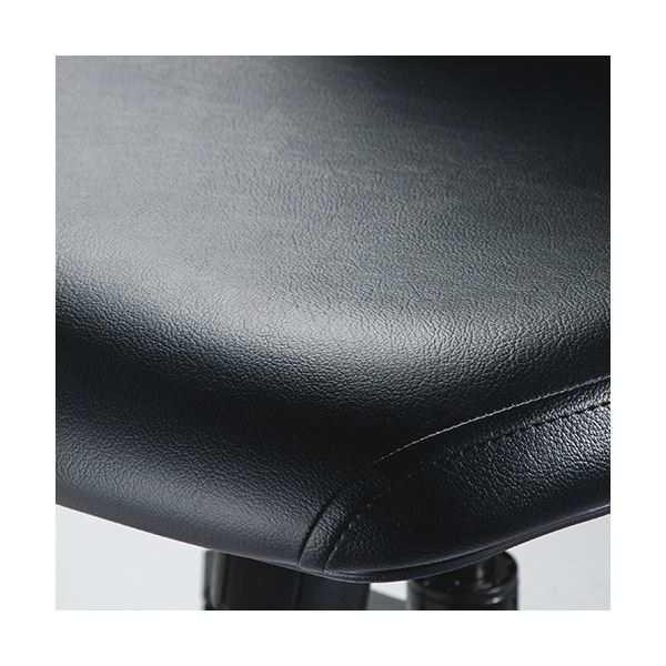 中央可鍛工業 レクチェ ハイバック 肘なし PVCレザー ブラック NC-210V-BK 1脚 【送料無料】