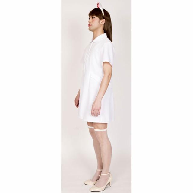 女装MAN 純白ナースMAN 看護婦 白衣の天使 コスプレ コスチューム 衣装 ...