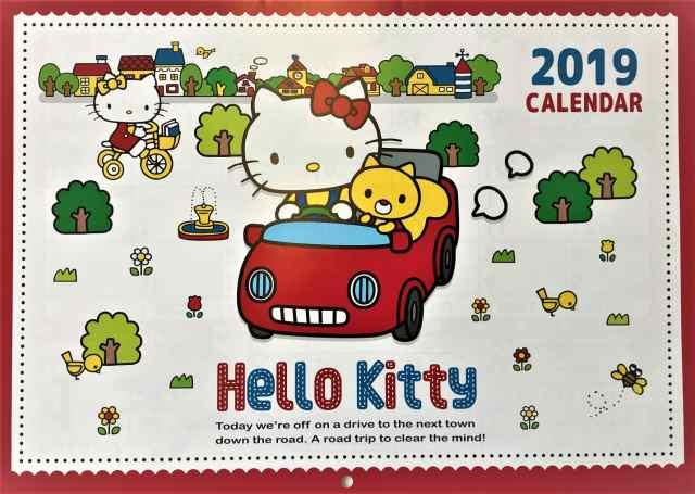 カレンダー キティーちゃん 2019年 キティー 壁掛けカレンダー ハロー