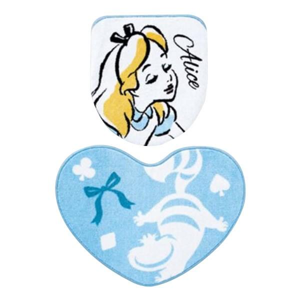 トイレ2点セット フタカバー トイレマット ディズニー 不思議の国のアリス Ndy 39の通販はau Pay マーケット 旭タイプ