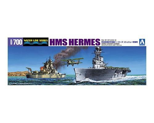 アオシマ】限定 英国海軍 航空母艦 HMSハーミーズ リシュリュー 攻撃時 ...