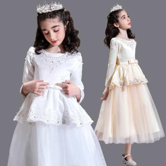dfa05ac325b8f 素敵なドレス 子供ドレス ピアノ発表会 プリント ドレス 女の子 二次会 花嫁 ジュニア 結婚式
