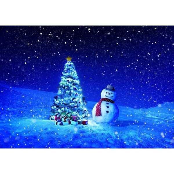 絵画風 壁紙ポスター ホワイトクリスマス X'mas クリスマスツリー ...