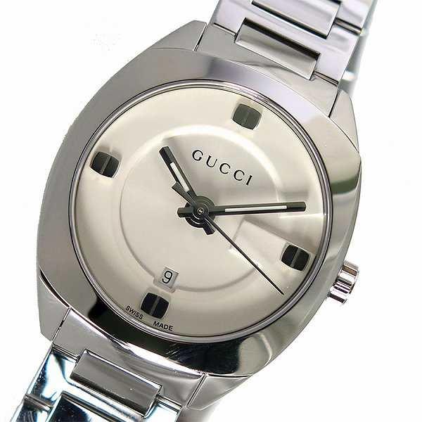 グッチ 腕時計 レディース GUCCI 時計 ホワイト シルバー 人気 ブランド 女性 ギフト クリスマス プレゼント au Wowma!