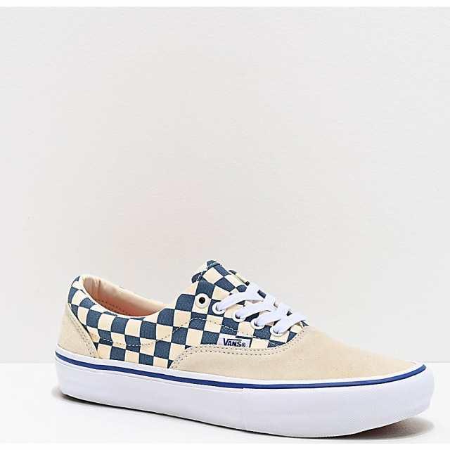 靴 Vans Era Pro White and Blue