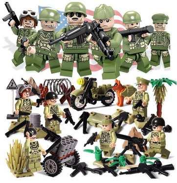 MOC LEGO レゴ ブロック 互換 WW2 第二次世界大戦 USA アメリカ軍 兵士 ...