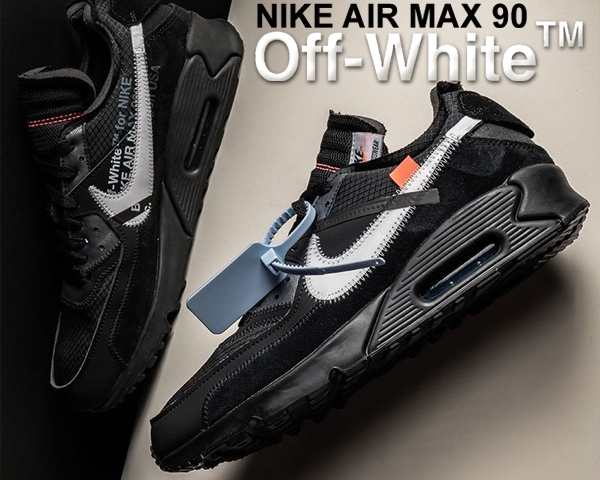 50964f9cda 【送料無料 ナイキ × オフホワイト エアマックス 90】THE 10 : NIKE AIR MAX 90 OFF-WHITE  black/black-cone-white AA7293 001 the ...