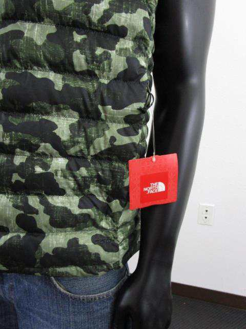 Mens TNF The North Face Flare FZ Packable 550-Down Puffer Insulated Vest Camo
