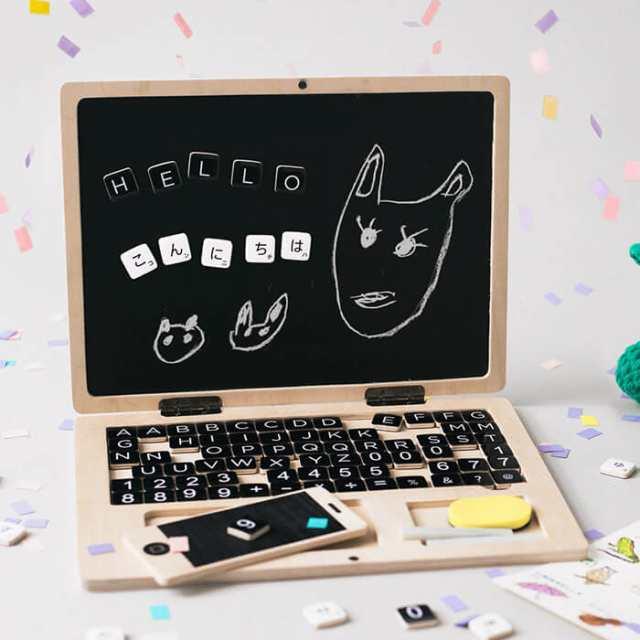 amabro アマブロ キッズPC [知育玩具 おもちゃ パソコン スマホ 学習玩具 知育 英語 算数 国語 KIDS PC]の通販はau PAY マーケット - あなろ(インテリア雑貨)