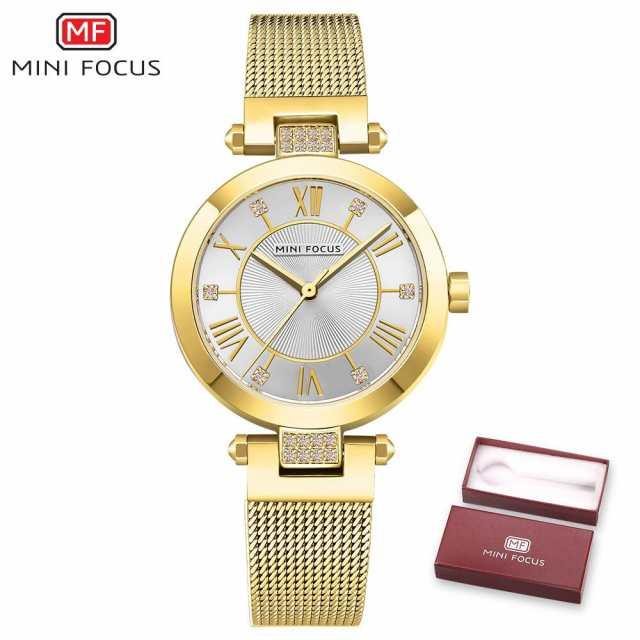 eeeed251b MINIFOCUSレディー腕時計女性高級ブランド女性腕時計防水Reloj Mujerローズゴールドステンレススチールレ