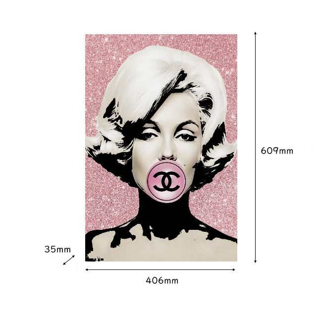 アモアアート Amour Art Mm Bubble ハリウッド女優マリリンモンローとシャネルをモチーフにした海外アート作品 アートパネル キャンバスの通販はau Pay マーケット 7dials