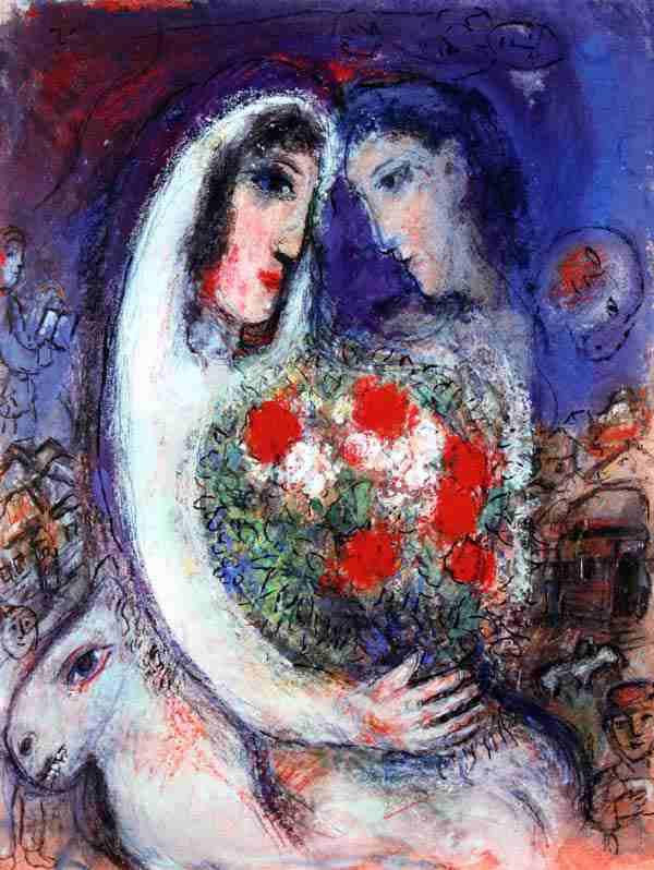 マルク・シャガール「結婚」作品証明書・展示用フック・限定375部 ...