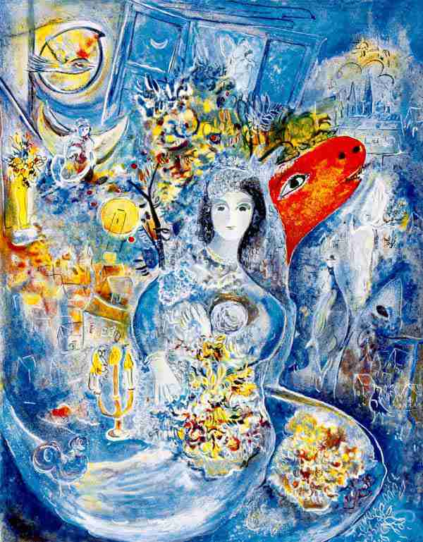 マルク・シャガール「愛しのベラ」作品証明書・展示用フック・限定375 ...