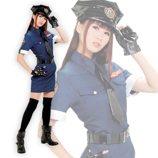 OUTLAW SWEET コスプレ ポリスレディ 警察官 ポリスキャップ/制服上下 ...
