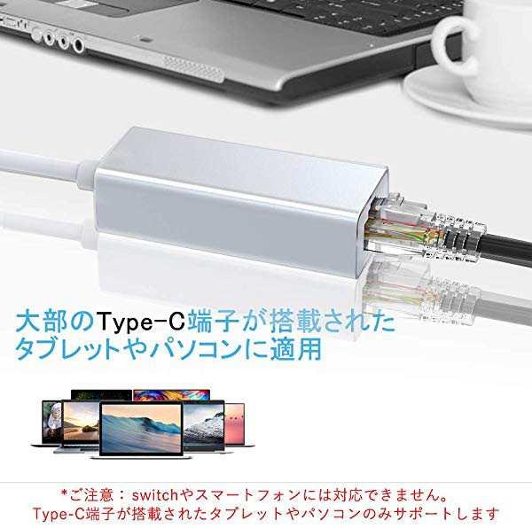 USB Type C 有線Lanケーブル USB-C LANアダプタ 100メガビット ...