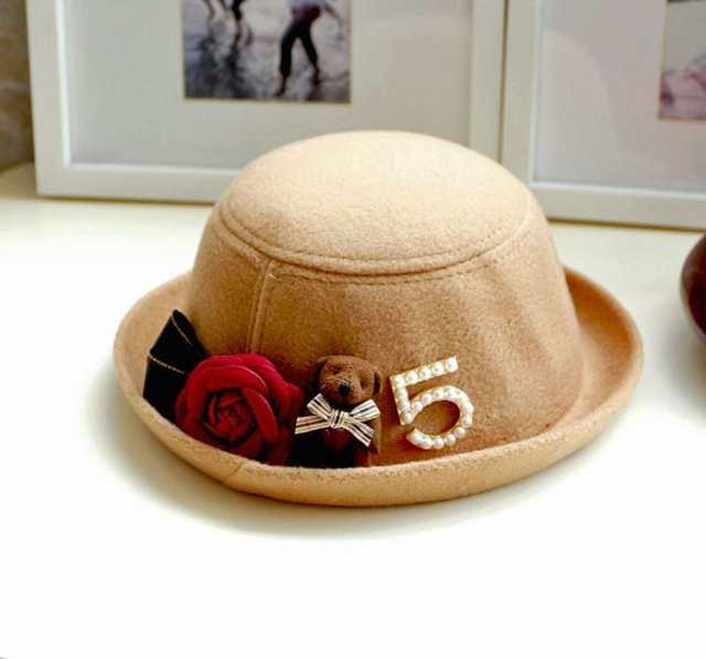 270fa5df36791 飾り帽子 子供 帽子 ハット キャップ 花飾り フェルト キッズ お出かけ 結婚式 パーティー 小物 hat16101
