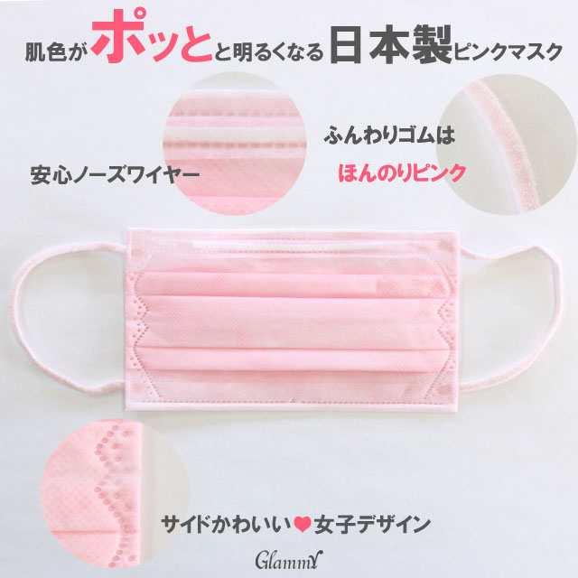 マスク ピンク 【楽天市場】【送料無料】ピンクマスク うすピンク色