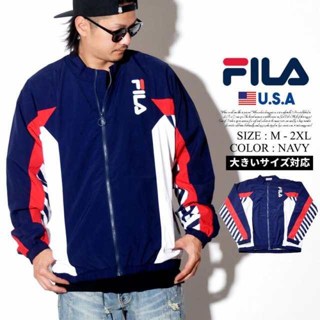 620b1810c4d FILA フィラ トラックジャケット メンズ 大きいサイズ ロゴ ストリート系 ヒップホップ スポーツ ファッション