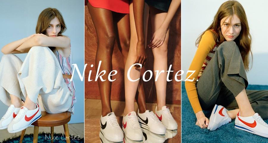 NIKE ナイキ コルテッツ クラシック レザー レディース スニーカー WMNS CLASSIC CORTEZ LEATHER 807471-103 靴 ホワイト [1/9 再入荷]