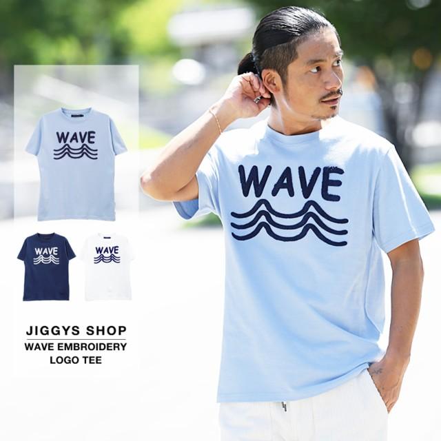WAVE刺繍ロゴTシャツ