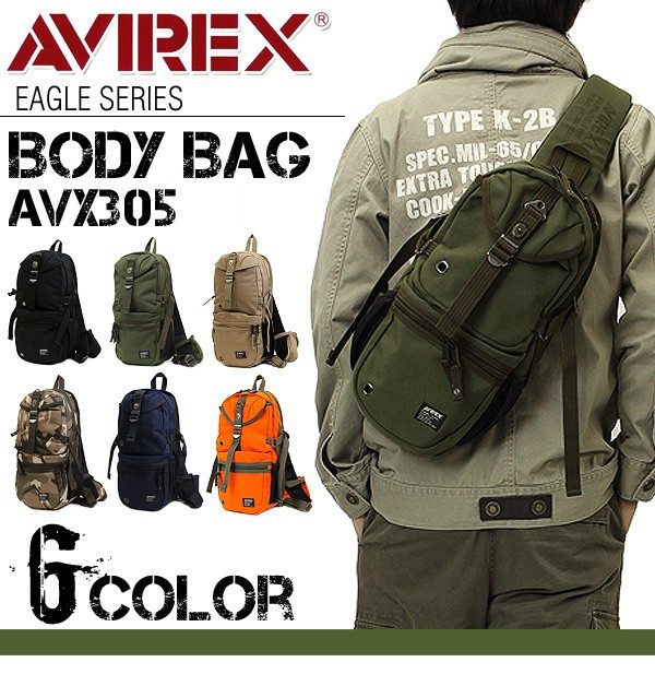 AVIREX ボディバッグ ワンショルダーバッグ AVX305