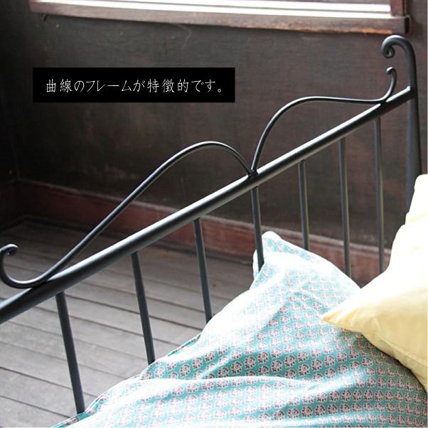 【送料無料】アイアンテイストヨーロピアン調ベッドフレームアンティーク調ベッドフレームシングルベッドデザインインテリアベッド