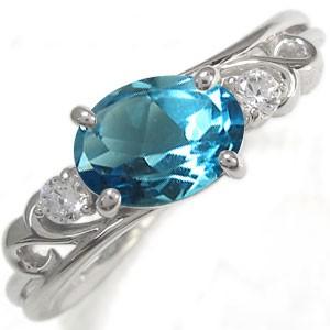 オーバル指輪 リボン