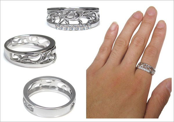 メンズ 唐草 指輪