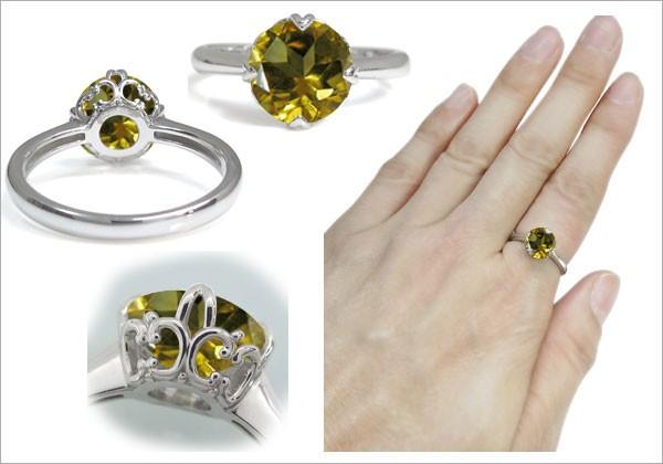 プラチナ ガーネット 指輪