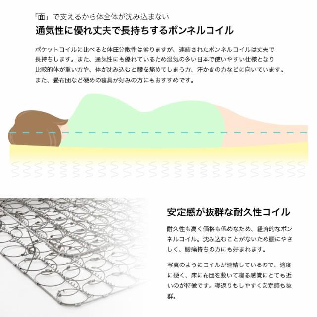 ボンネルコイルマットレスマットレス シングル