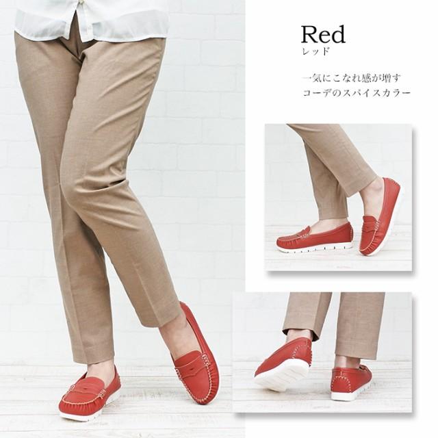 joy walker plus ジョイウォーカープラス モカシン red
