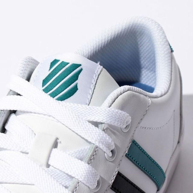 Kスイス ケースイス アディソン バルカ レザー メンズ レディース ホワイト ハーバーブルー 白 ローカット スニーカー テニスシューズ K-SWISS ADDISON VULC LTR WHITE 36754873 送料無料