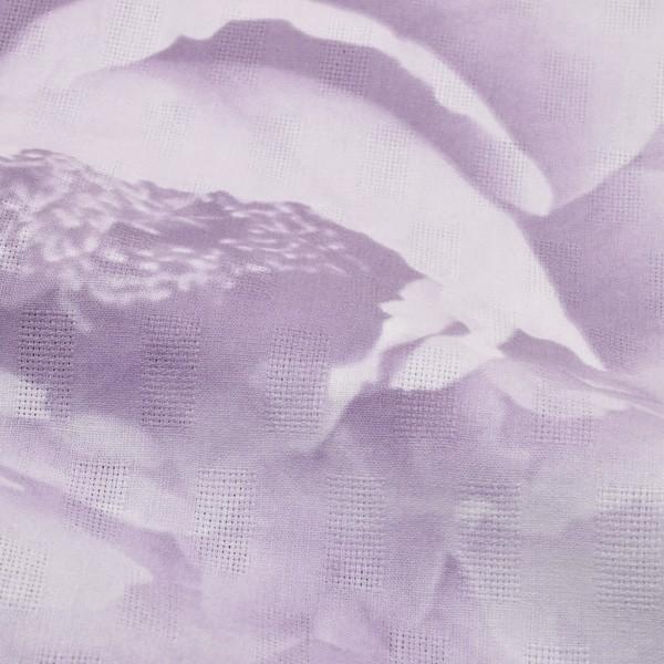 浴衣4点セット 三分紐、帯留めの帯飾り付き 綿浴衣