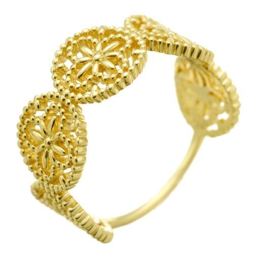 K18ring K18リング K18 ring flower lace