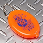 ラットフィンクラバーコインケース小銭入れRATFINKスタンディングネオンオレンジ