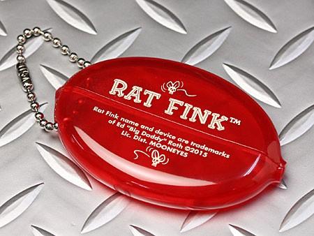 ラットフィンクラバーコインケース小銭入れRATFINKフェイスクリアレッドの裏面