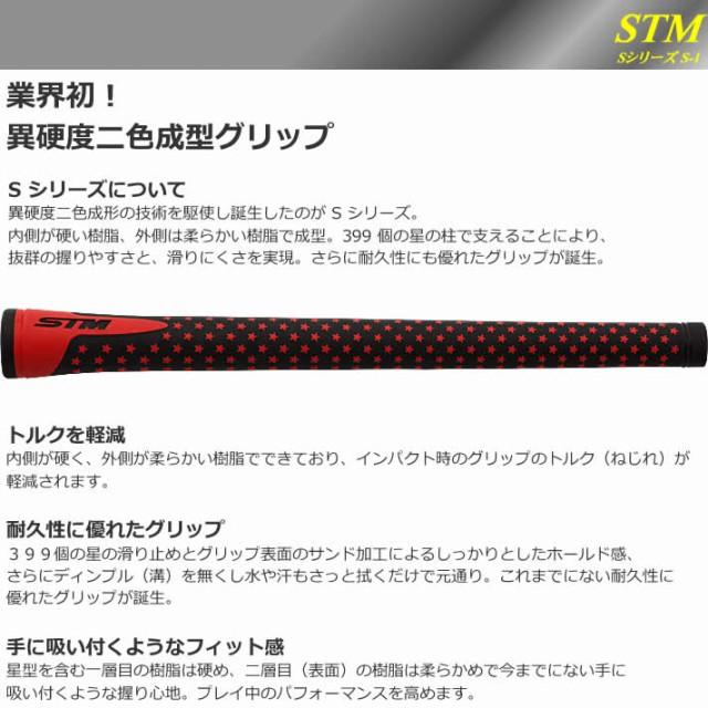STM グリップ Sシリーズ S-1 ブラックレッド【GR-001】バックライン有