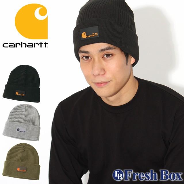Carhartt カーハート ニット帽 メンズ ブランド ニットキャップ 折り返し ビーニー 帽子 メンズ ニット キャップ [RIB KNIT HAT] (carhartt-104512)