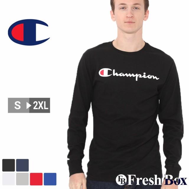 チャンピオン Tシャツ 長袖 メンズ レディース 大きいサイズ USAモデル ブランド ロンT 長袖Tシャツ ロゴ スクリプトロゴ アメカジ おしゃれ Champion
