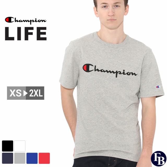 チャンピオン Tシャツ 半袖 メンズ レディース 大きいサイズ USAモデル ブランド 半袖Tシャツ ロゴ スクリプトロゴ アメカジ おしゃれ Champion