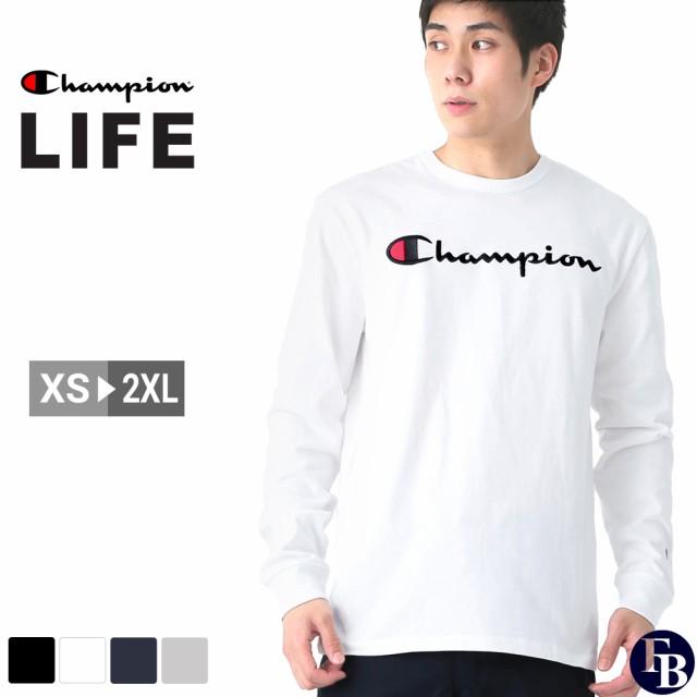 チャンピオン Tシャツ 長袖 メンズ レディース 大きいサイズ USAモデル ブランド ロンT 長袖Tシャツ ロゴ 刺繍ロゴ スクリプトロゴ アメカジ おしゃれ Champion