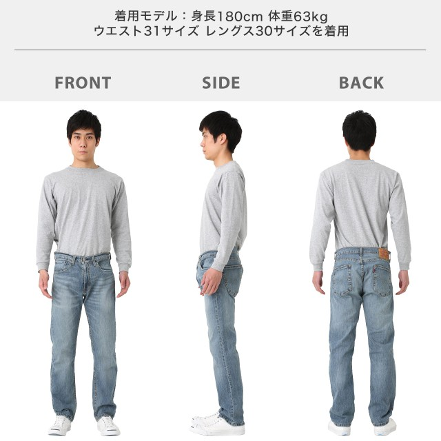 levi's 505 regular fit jeans フィッティング