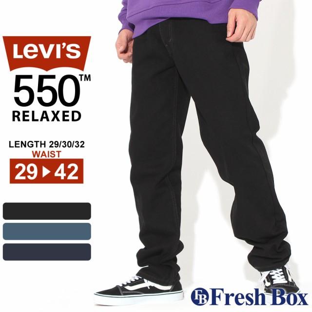 Levis リーバイス 550 ジーンズ メンズ 大きいサイズ ワイドパンツ ブラック リンス ワンウォッシュ RELAXED FIT JEANS